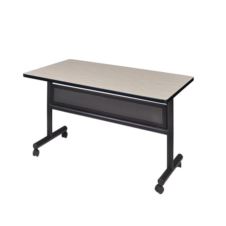 "Kobe 48"" x 30"" Flip Top Mobile Training Table with Modesty- Maple"