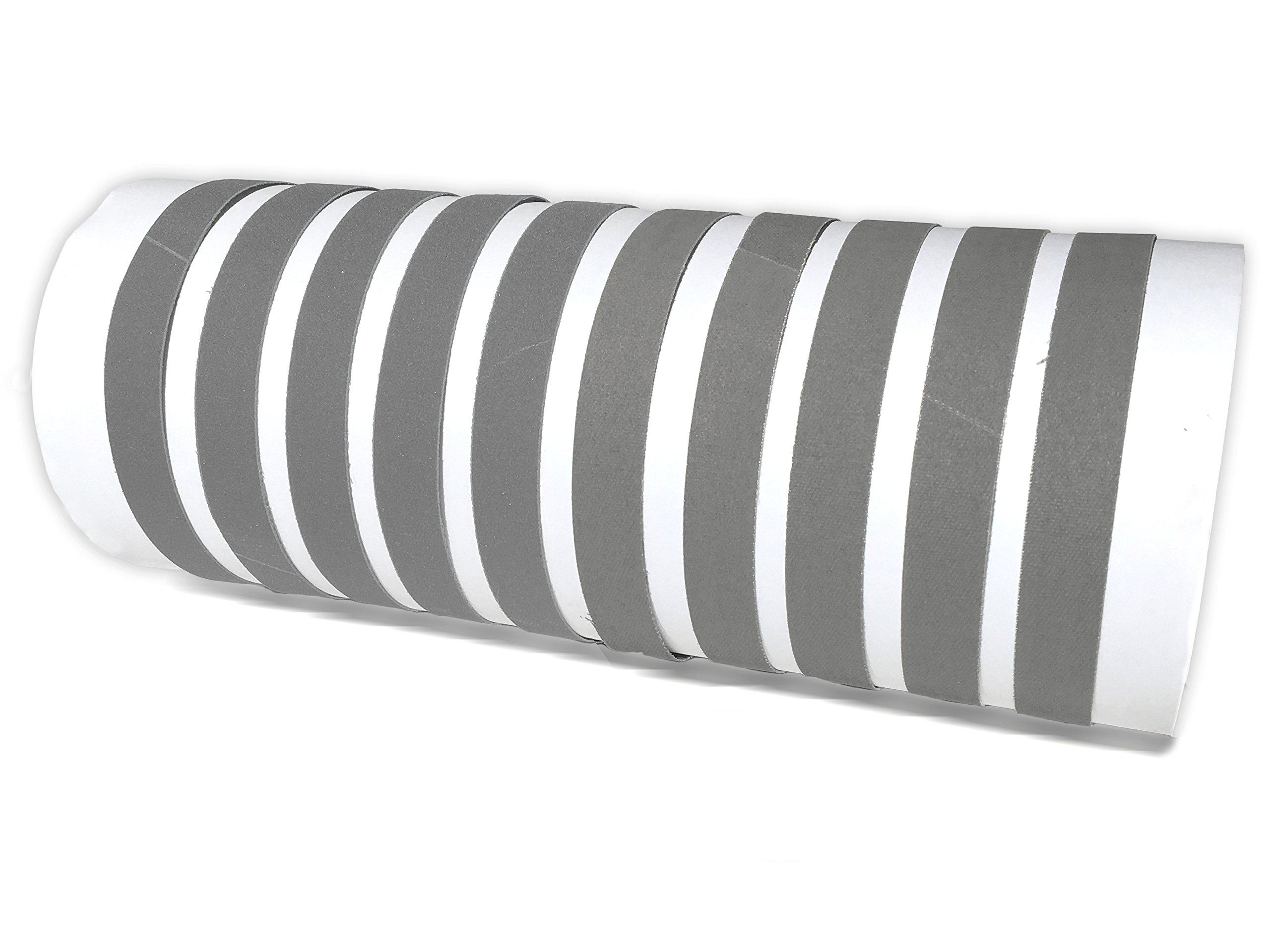 1 2 X 10 Inch Knife Sharpener Sanding Belts, 10 Pack (Compatible with Work Sharp WSCMB Combo Knife Sharpener) by Red Label Abrasives