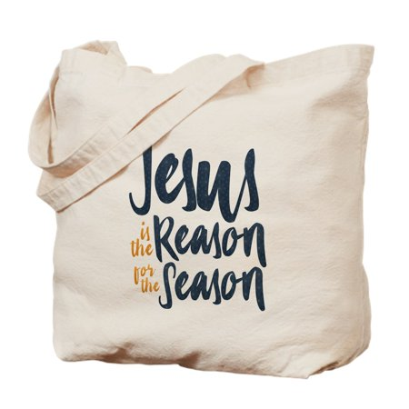 CafePress - Jesus Is The Reason - Natural Canvas Tote Bag, Cloth Shopping - Jesus Bags