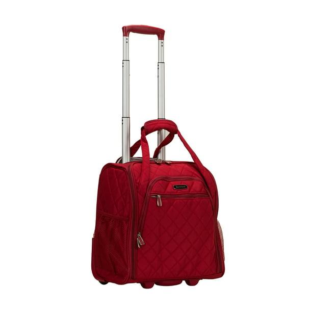 Rockland Rockland Luggage 15 Melrose Wheeled Underseat Softside Carry On Bf31 Walmart Com Walmart Com