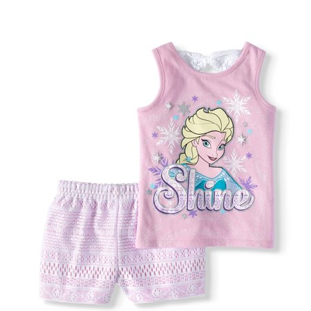Frozen Clearance (Disney Frozen Elsa Tank Top and Shorts, 2pc Set (Toddler)