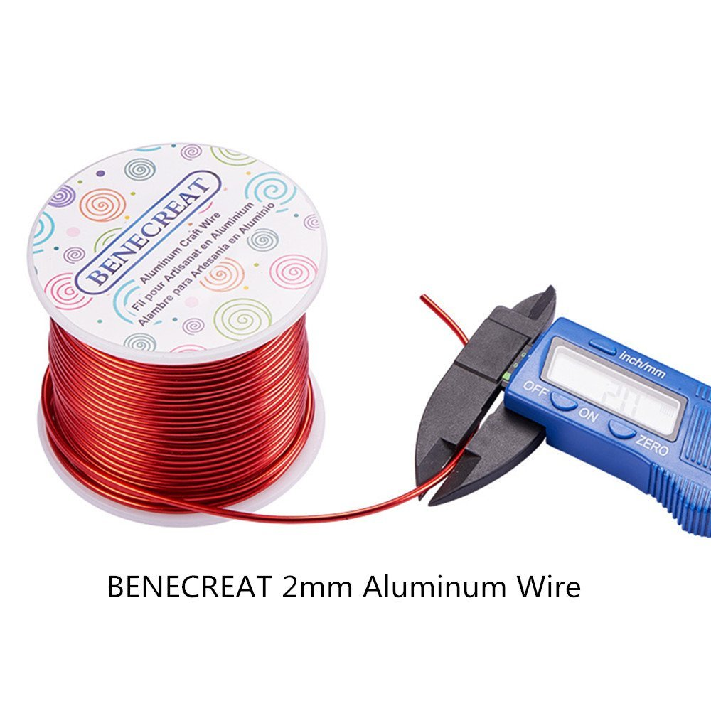 BENECREAT 1 Roll 100FT Aluminum Wire Anodized Jewelry Craft Making ...