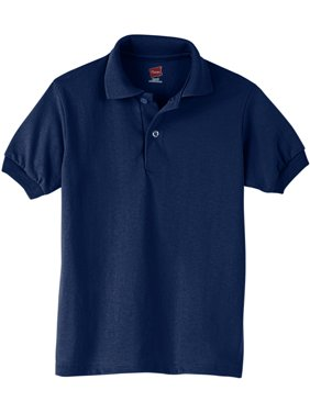Hanes Boys School Uniform EcoSmart Jersey Polo Shirt (Little Boys & Big Boys)