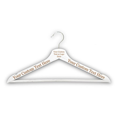 Customized CUSTOM 3D Laser Engraved Personalized Wooden Clothes Hanger Organization Closet Tools (White) - Personalized Hanger