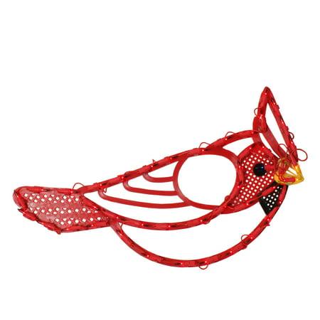 Lighted Red Cardinal Bird Christmas Window Silhouette 12.5 Inch ()