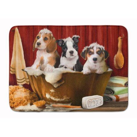 Jack Russell Beagle - Beagle, Boston Terrier and Jack Russell Machine Washable Memory Foam Mat