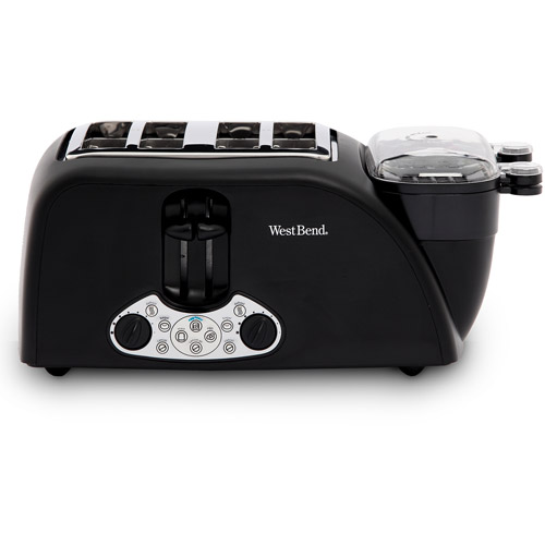West Bend 4-Slice Egg and Muffin Toaster, Black
