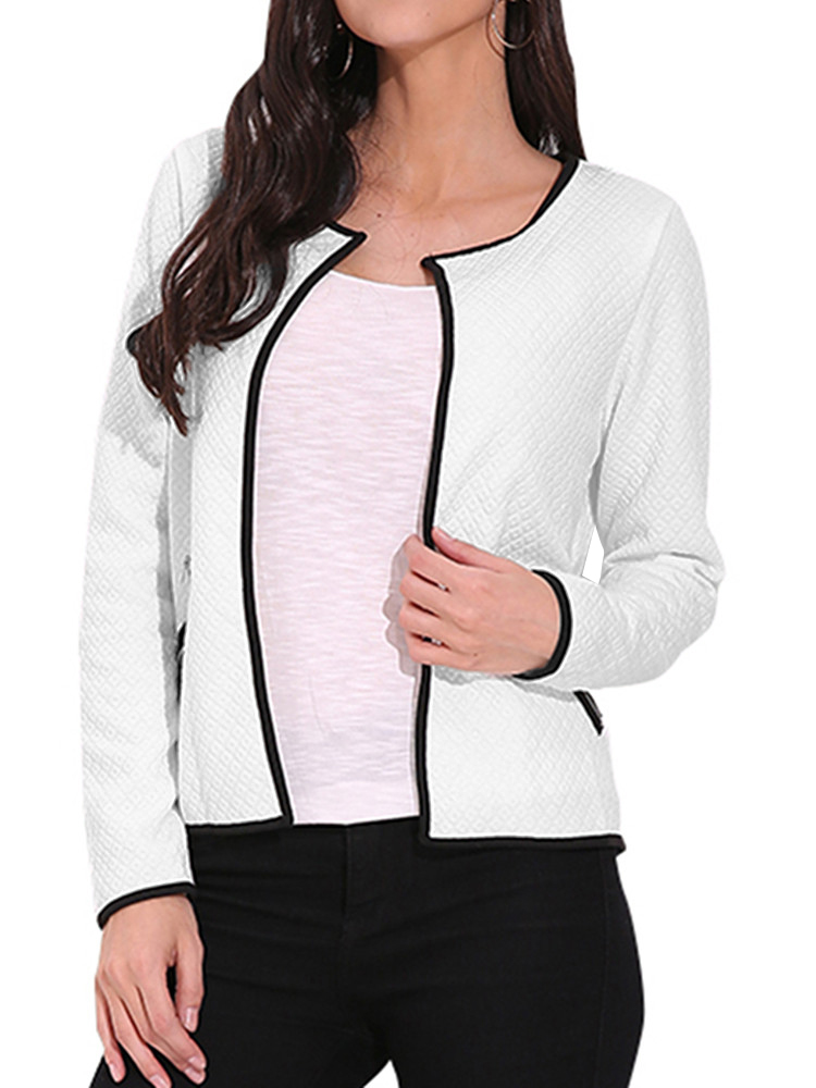 Women's Fashion Long Sleeve Zip UP Business Office Blazers