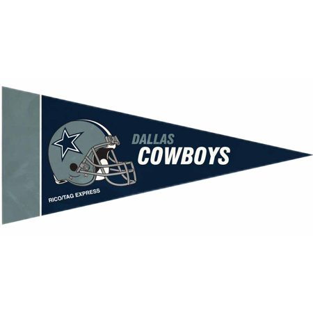 Dallas Cowboys Official NFL 10 inch x 4 inch  8 Piece Mini Pennant Set by Rico Industries