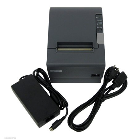 Refurbished Epson TM-T88IV Dark Gray Thermal Receipt Printer Serial Interface (Gray Epson Interface)