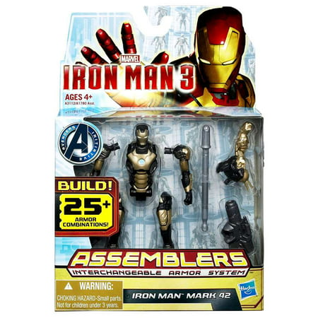 Iron Man 3 Assemblers Iron Man Mark 42 Action Figure Silver Black