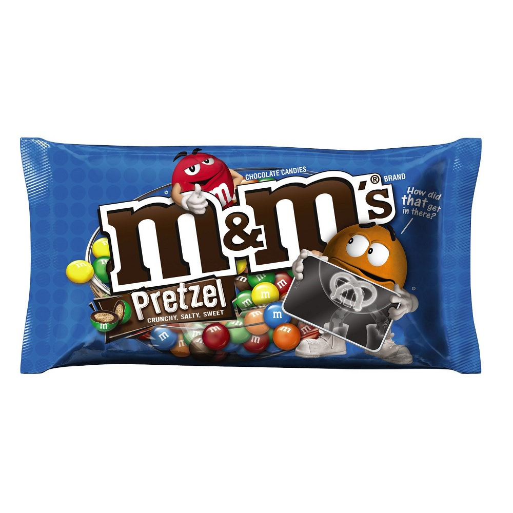 M&M'S Pretzel Chocolate Candy Bag, 9.9 oz