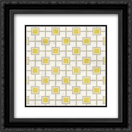 Mod Yellow 4 2x Matted 20x20 Black Ornate Framed Art Print by Nicoll, Suzanne