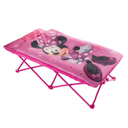Disney Minnie Mouse Portable Folding Bed Cot with Sleeping