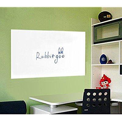 Rabbitgoo Self Adhesive Wall Sticker Wall Paper Whiteboard Sticker Chalkboard Contact Paper White 17 7 By 78 7 Inches With 1 Marker Pen For School
