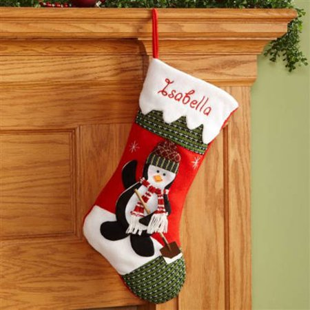 Personalized Snow Cap Christmas Stocking, Penguin