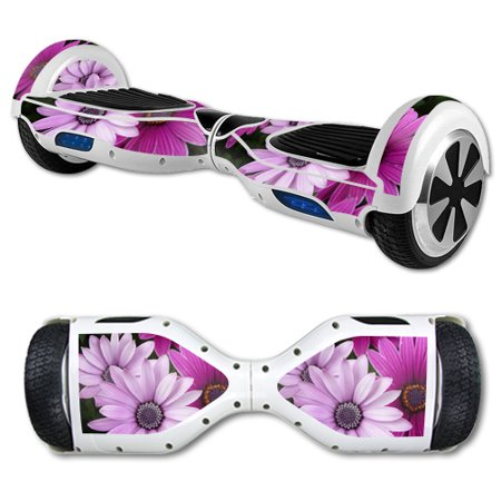 MightySkins Protective Vinyl Skin Decal for Hover Board Self Balancing Scooter mini 2 wheel x1 razor wrap cover sticker Purple Flowers