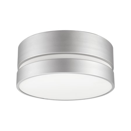 Globe Electric Belamy 2-Light Matte Silver Flush Mount Ceiling Light with Frosted Glass Shade, 60367