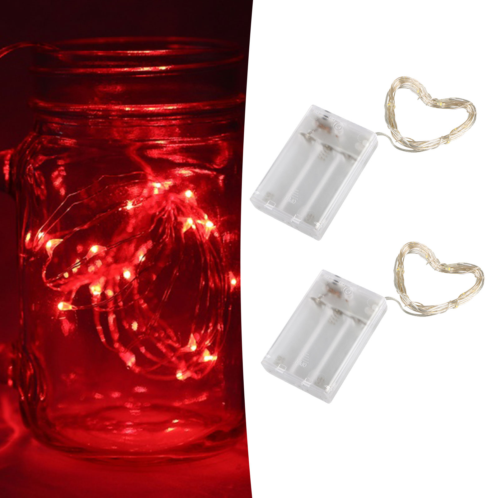 10Ft/3M 30 LEDs Waterproof Wire Starry Fairy String Light Warm White/White/Red for Christmas Party Home Decoration