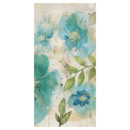 Masterpiece Art Gallery Aqua Petals II Watercolor Flower By Willowbrook  Canvas Art Print 24