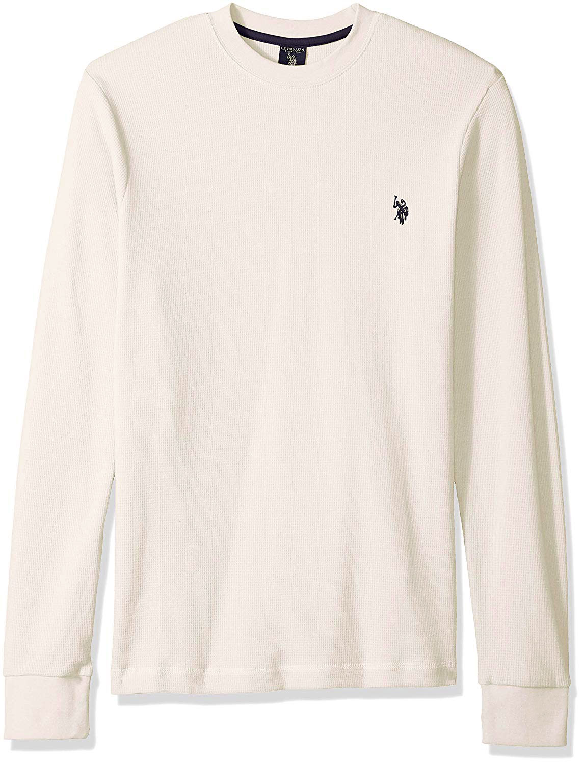 Mens Long Sleeve Crew Neck Solid Thermal Shirt U.S Polo Assn