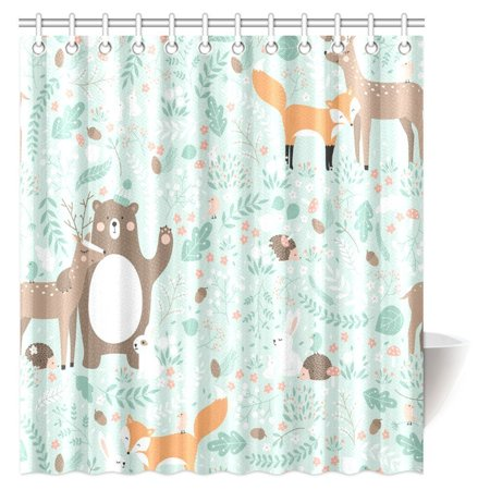 Mypop girls boys kids baby lover decor shower curtain for Kids shower curtain sets