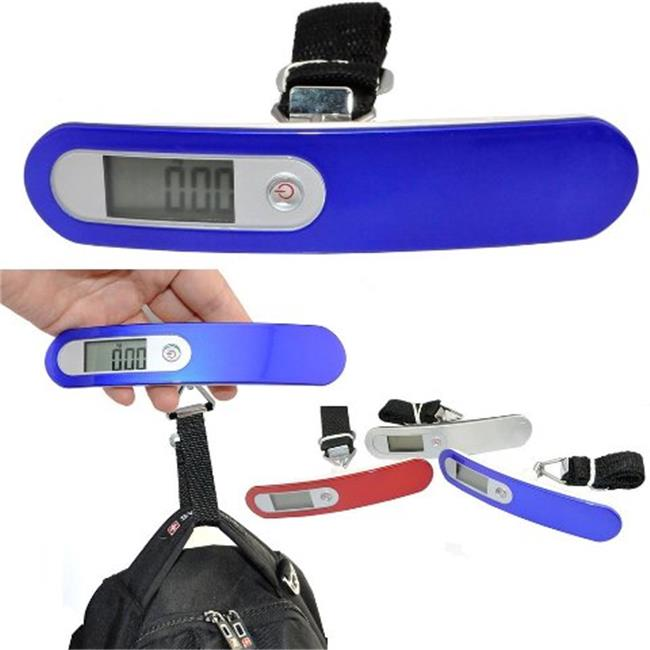 IKKEGOL 30330C 10g Digital Luggage Hanging Fishing Trave Scale with Strap, Blue