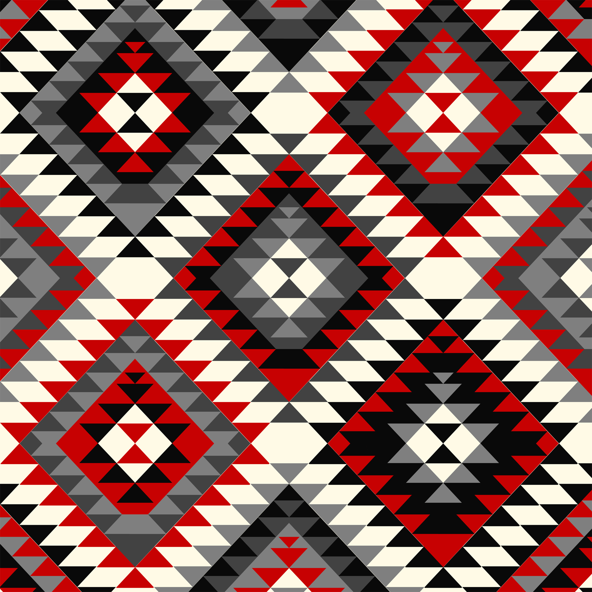 David Textiles Anti-Pill Fleece Native Diamonds Fabric, per Yard