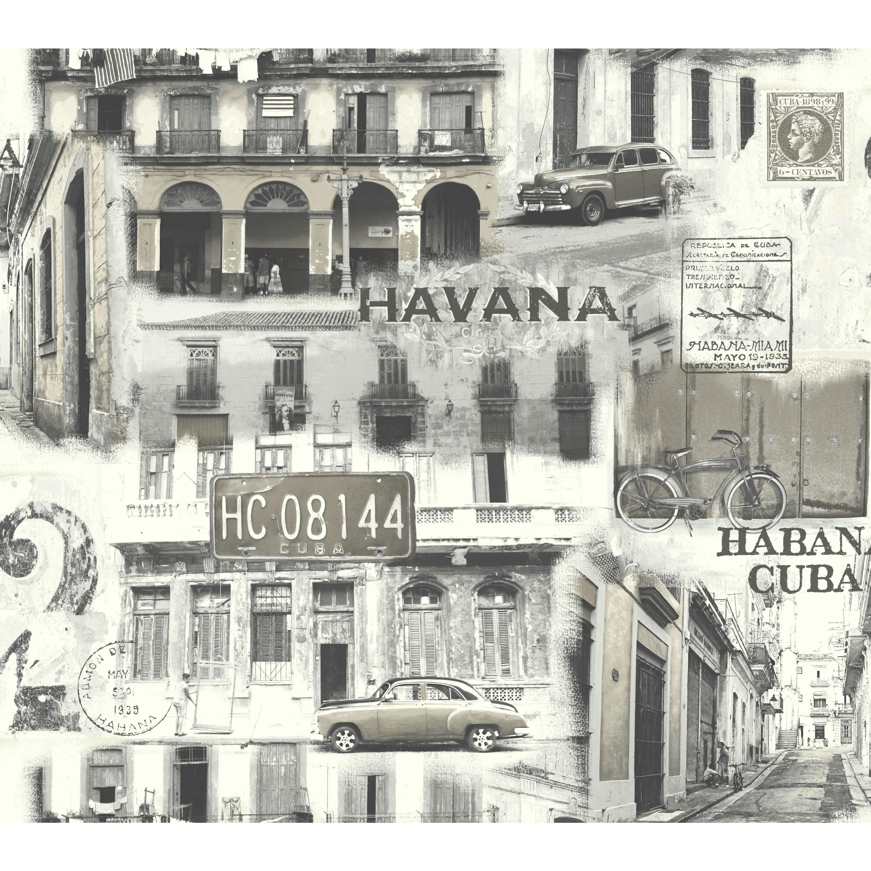 Habana Vieja Wallpaper - Black