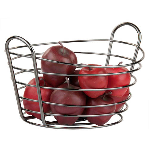 Home Basics simplicity Black Onyx Fruit Basket