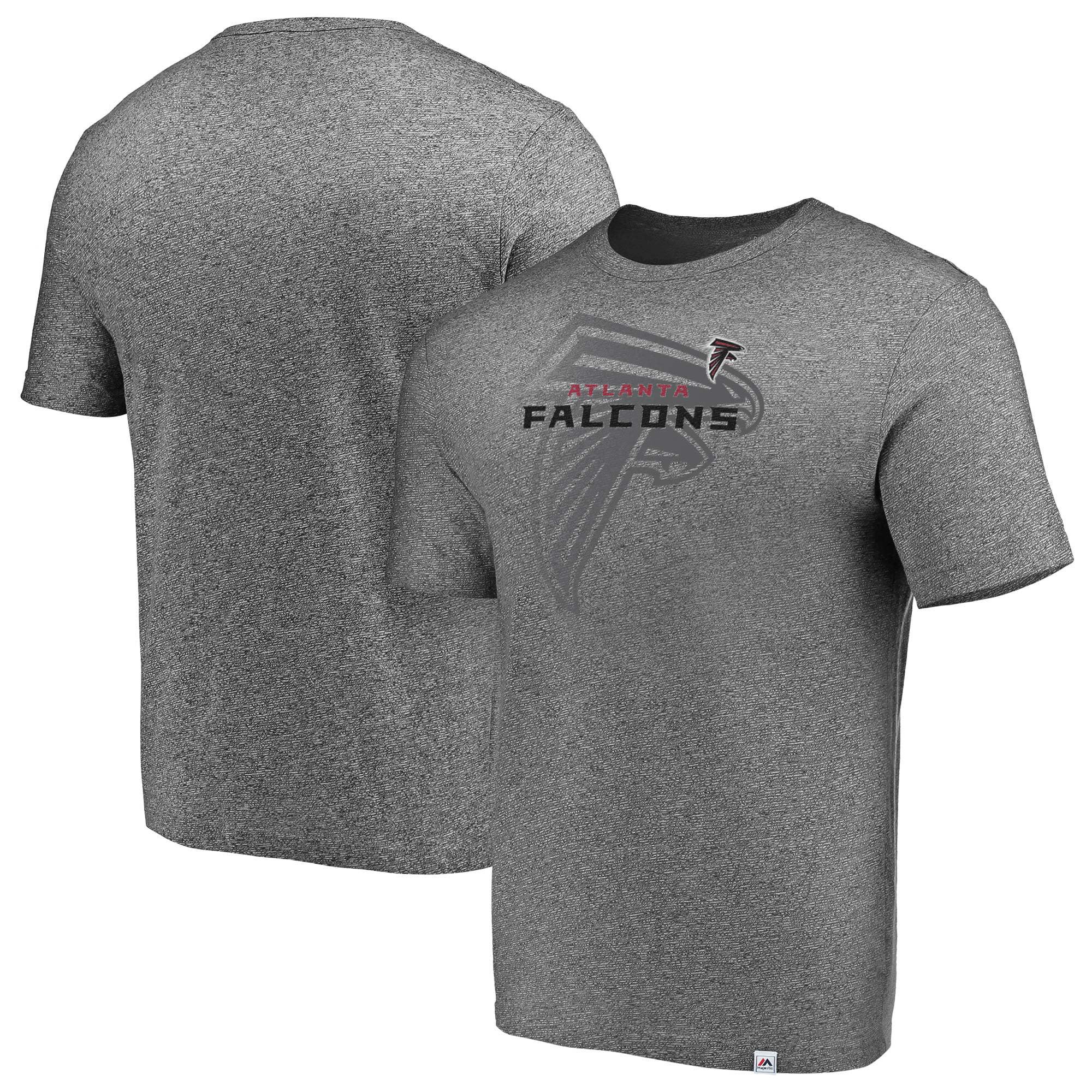 Atlanta Falcons Majestic Static Fade Marled T-Shirt - Heathered Gray