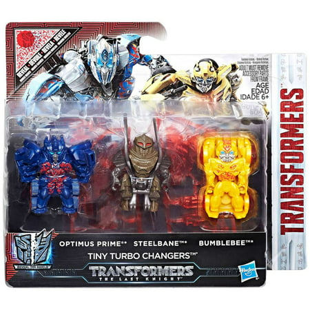 - Transformers Reveal the Shield Optimus Prime, Steelbane & Bumblebee Mini Figure 3-Pack [Tiny Turbo Changers]