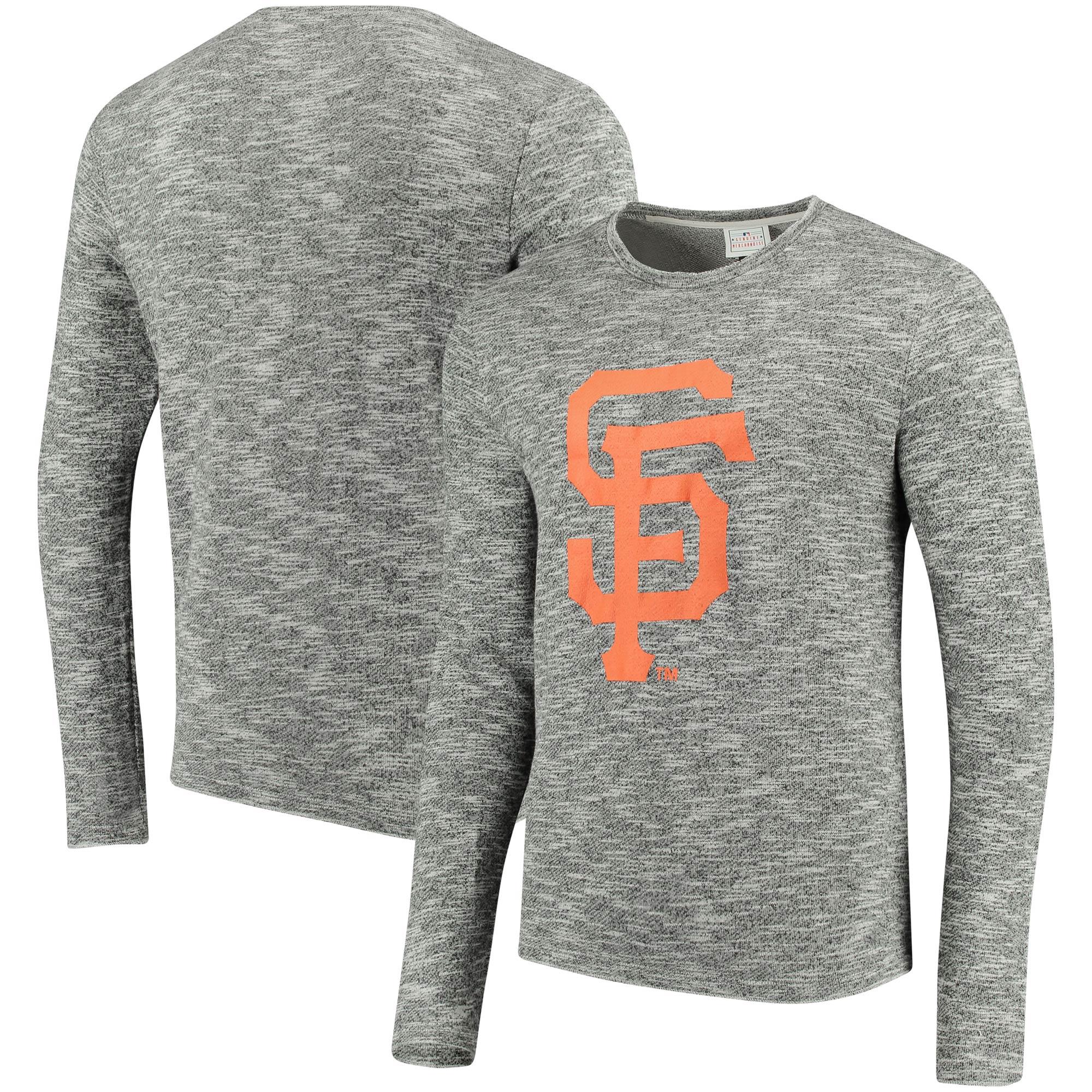 San Francisco Giants Heathered Crew Neck Sweater - Heathered Black