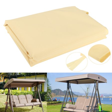 Swing Canopy Cover,Meigar 79''x 48''  Deluxe Polyester Top Replacement UV Block Sun Shade Waterproof Decor for Outdoor Garden Patio Yard Park Porch Seat Furniture ()