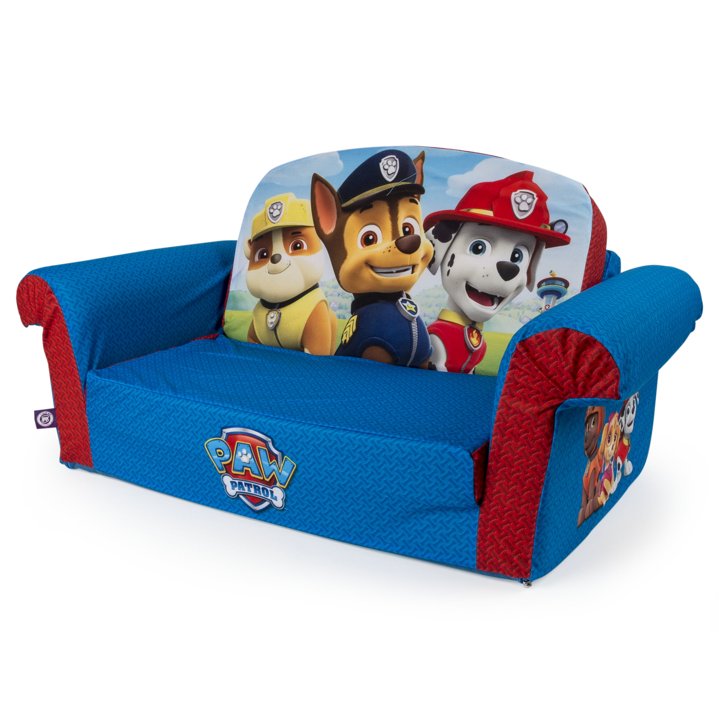 Marshmallow Furniture, Childrenu0027s 2 In 1 Flip Open Foam Sofa, Nickelodeon  Paw Patrol, By Spin Master   Walmart.com