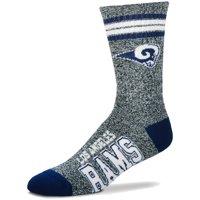 Los Angeles Rams For Bare Feet Got Marble Crew Socks - Gray