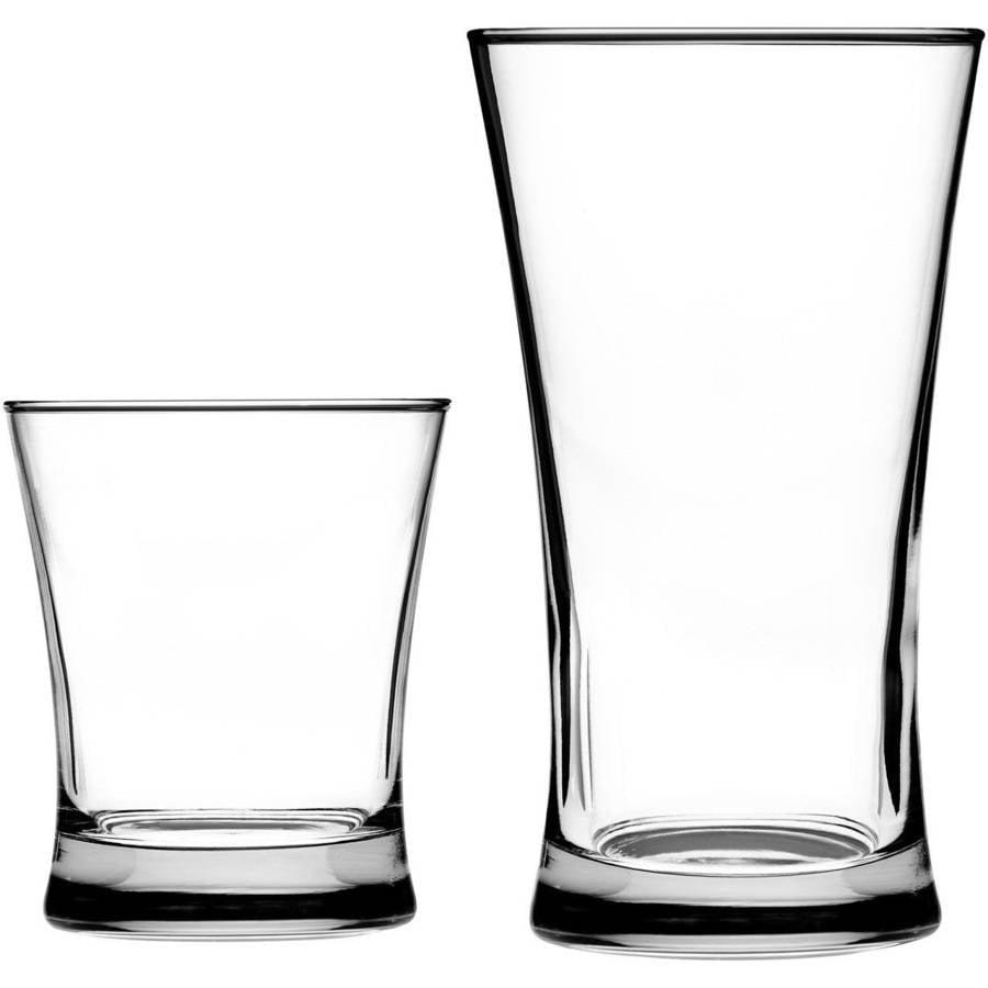 Linden 16-Piece Drinkware Set by Anchor Hocking