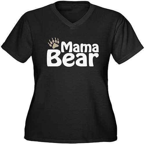 CafePress Women's Plus-Size Mama Bear Graphic T-shirt