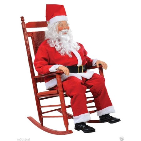 Life-Size Rockin Chair Santa Boxed - Coffin Props