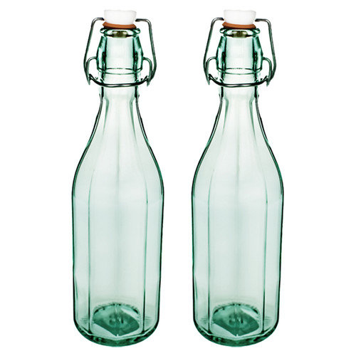Global Amici Faceted Glass Bottle - Set of 2