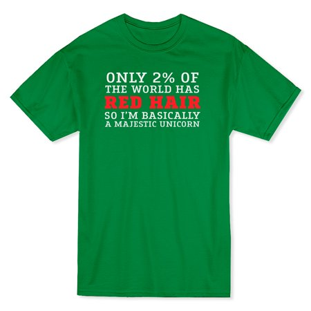 2 Percent Of The World Has Red Hair Unicorn Men's Navy T-shirt - image 1 de 1