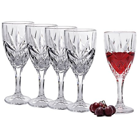 Bezrat Set of 6 Bezrat White Wine Glasses Superior Lead Free Crystal Beautifully Designed Stemware Wine Glasses 12 Oz ()