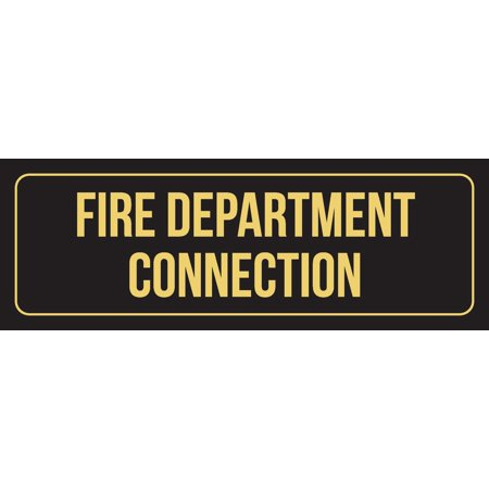 Black Background With Gold Font Fire Department Connection ...