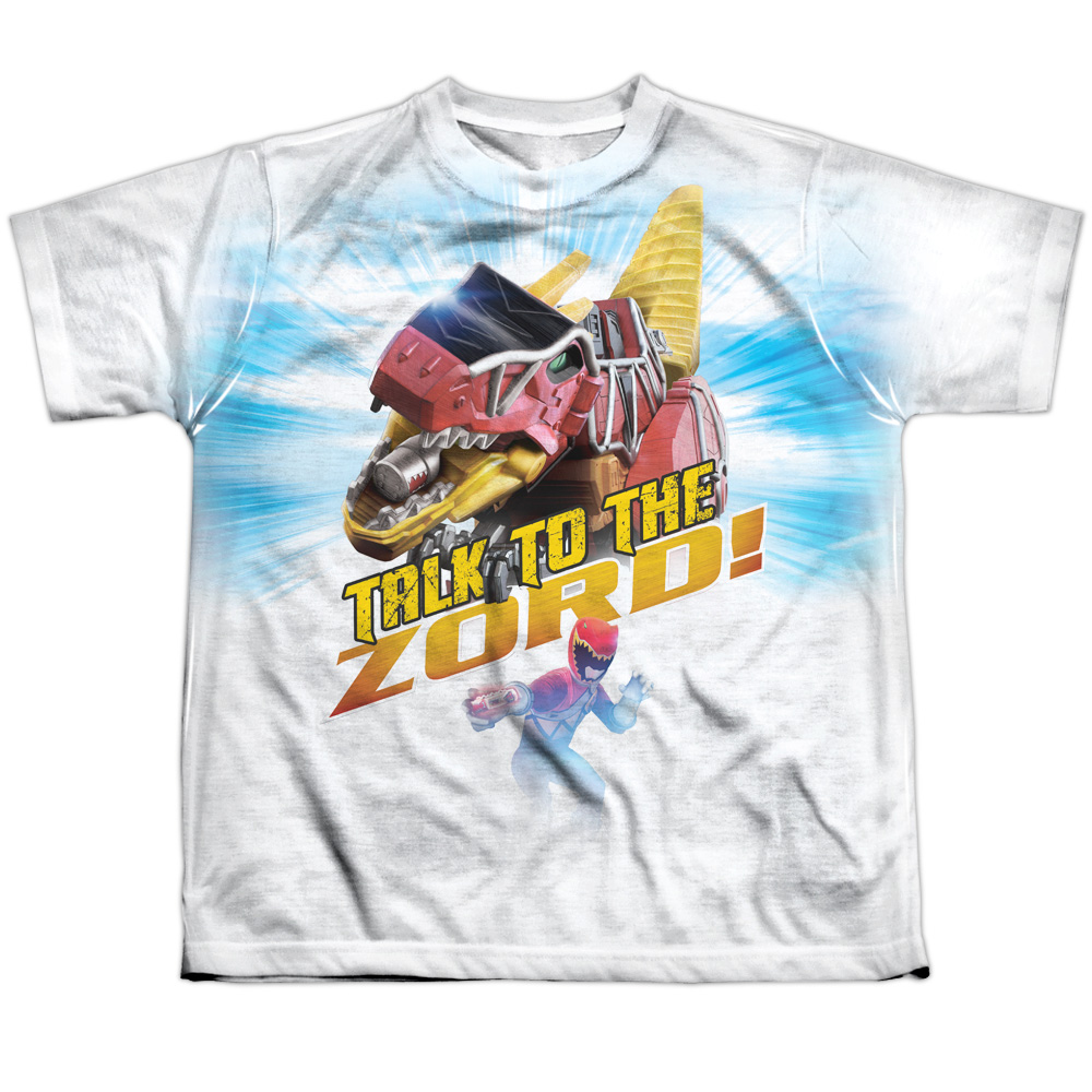 Mighty Morphin Power Rangers Talk To Zord Big Boys Sublimation Shirt