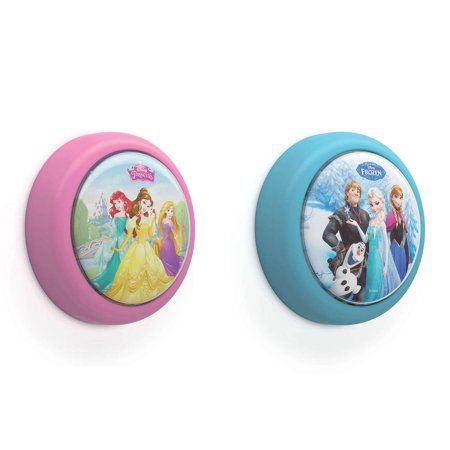Philips Disney Princess and Disney Frozen Battery-Powered LED Push Night (Disney Frozen Night Light Carousel Battery Change)
