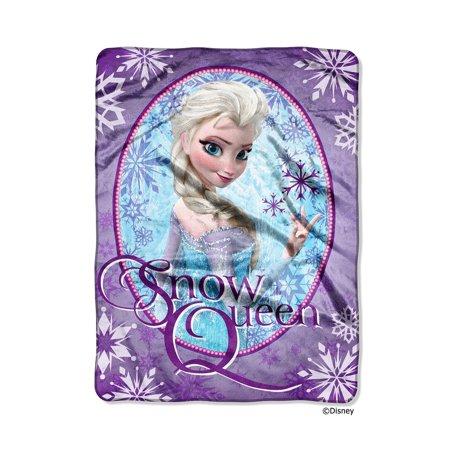 Disney Frozen Snow Queen Plush 60x80 Twin Size Throw/Blanket 60x80 Twin Blanket