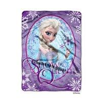Disney Frozen Snow Queen Plush 60x80 Twin Size Throw/Blanket