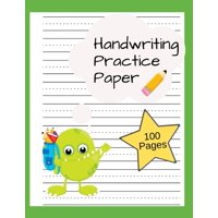Handwriting Practice Paper : Writing Paper for Kids, Kindergarten, Preschool, K-3 - Paper with Dotted Lines - 100 Pages (Paperback)