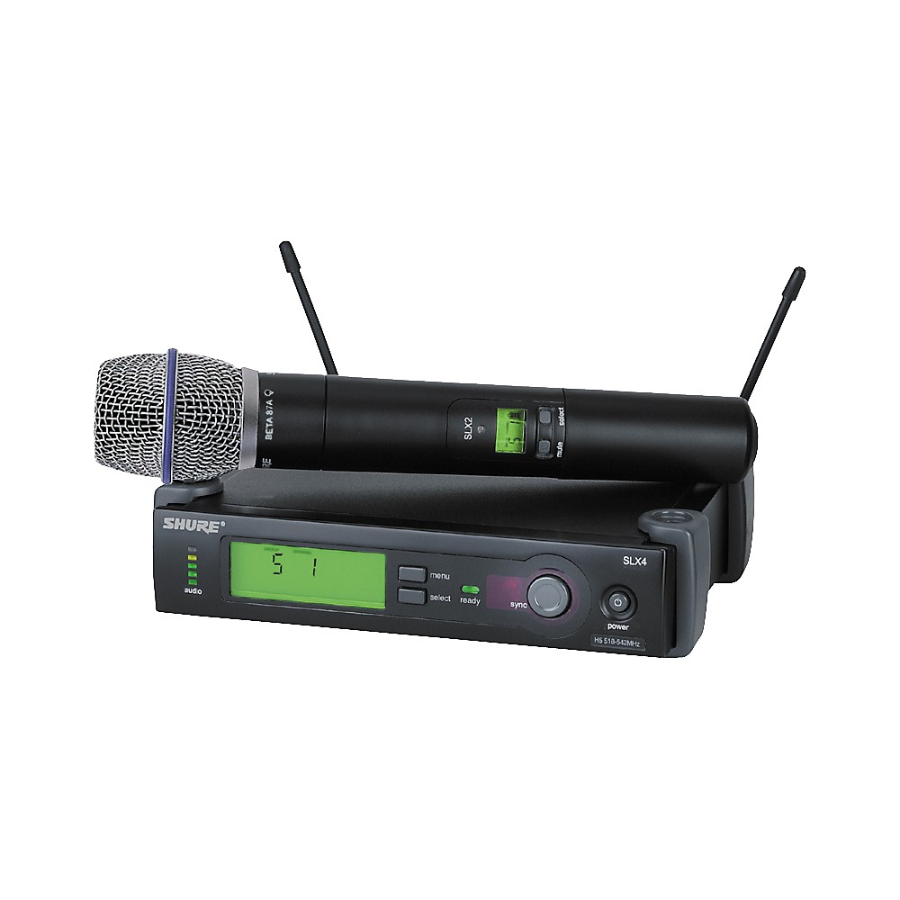 Shure SLX24 BETA87A Handheld Wireless Condenser Microphone System by Shure