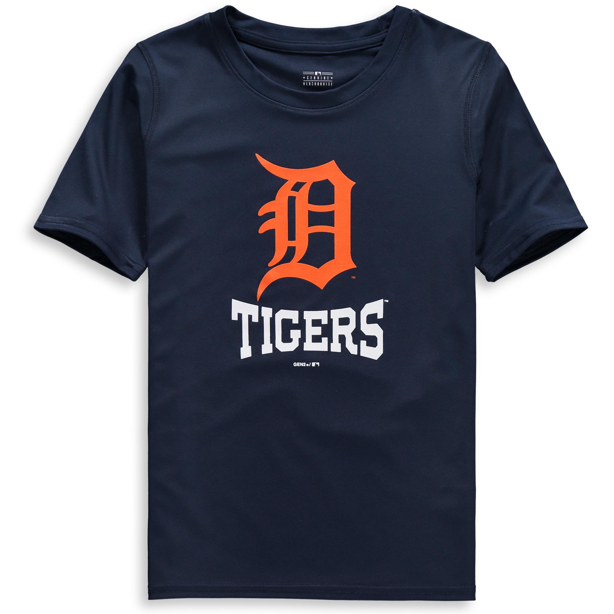 Detroit Tigers Youth Link Up Dri-Tek T-Shirt - Navy